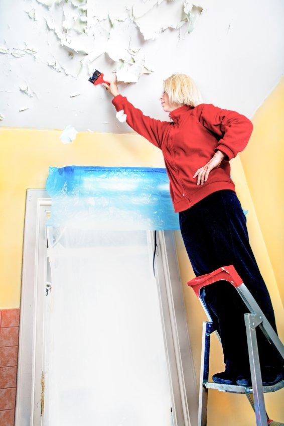 woman DIY home renovation
