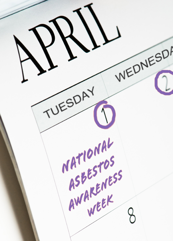 ional Asbestos Awareness Week this year occurs in part on April 1.